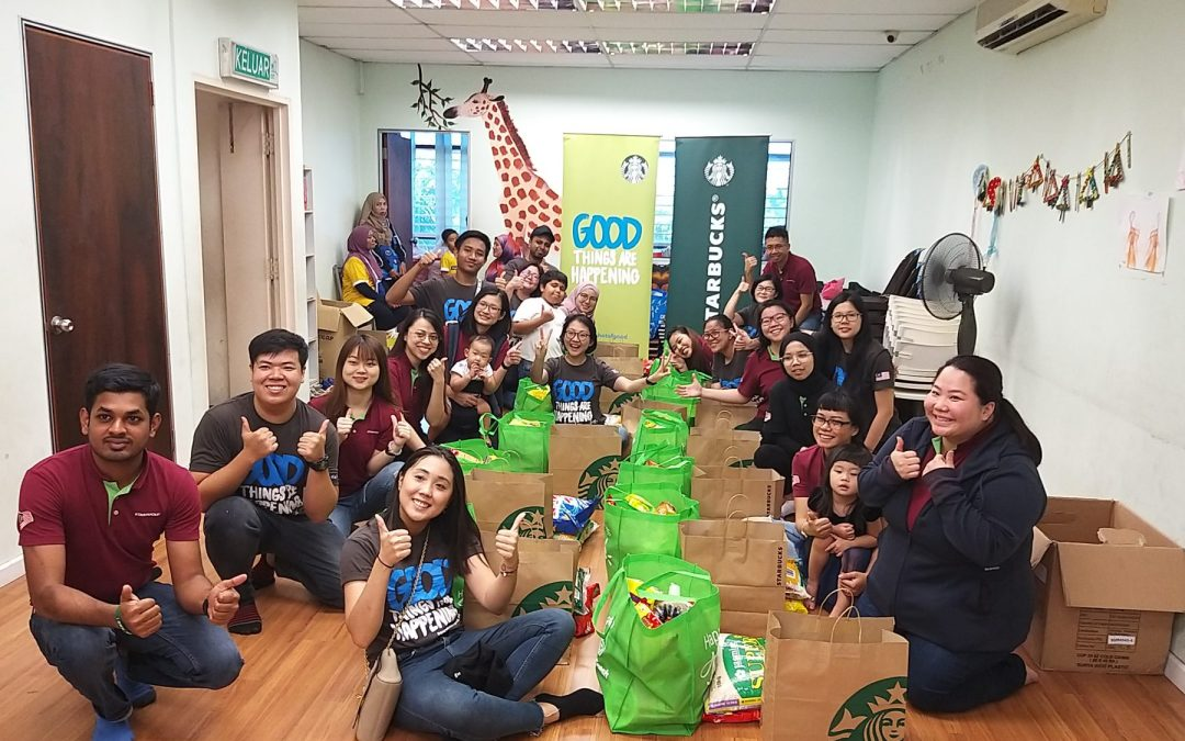 Starbucks Malaysia Gives Back to Children & Families